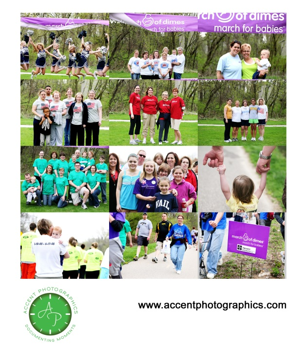 A few of the March for Babies teams