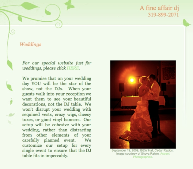 Weddings - A Fine Affair DJ - Exceptional DJs for Extraordinary Events