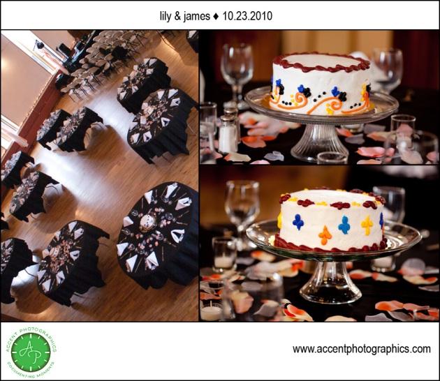 Iowa City Old Brick wedding reception cakes