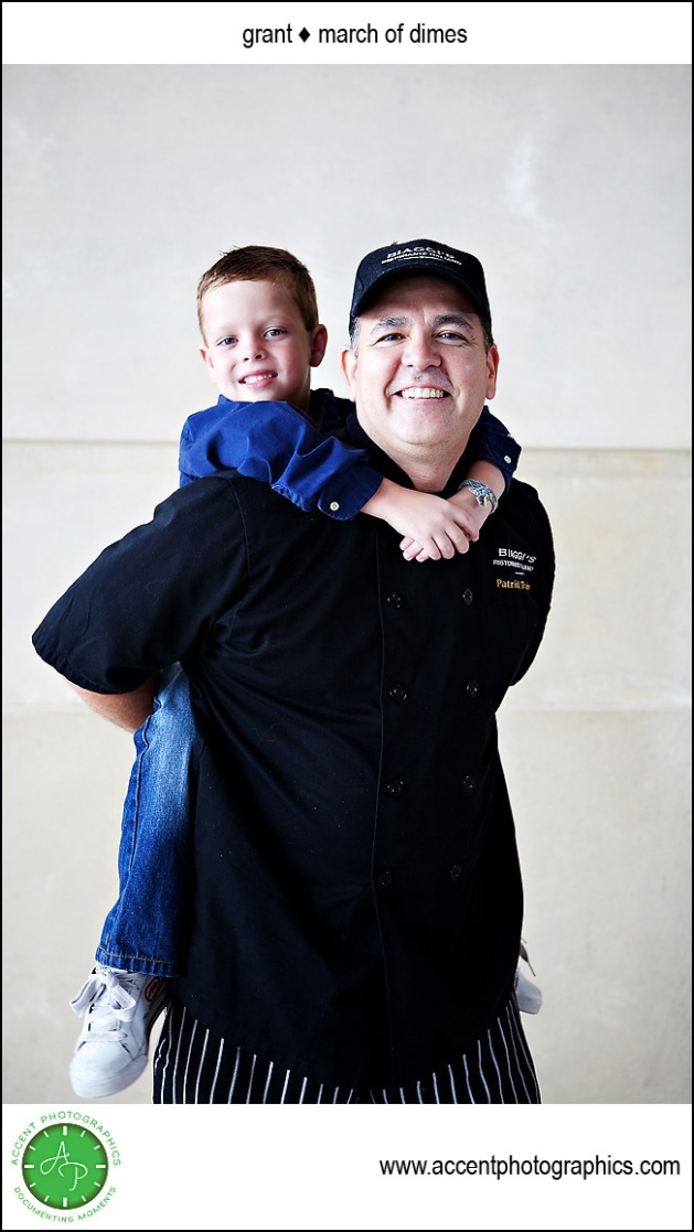 March of Dimes Child with Biaggis Restaurant Chef